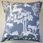 "Cushion Cover in Clarke and Clarke Vilda Woodland Animals Chambray 14"" 16"" 18"" 20"" (1)"